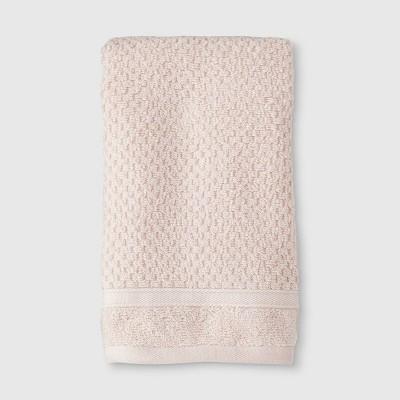 Performance Texture Hand Towel Blush Pink - Threshold™