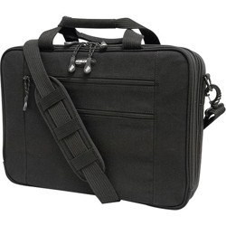 """Mobile Edge Eco-Friendly Carrying Case (Briefcase) for 17"""" Notebook - Black - Cotton Canvas, Poly Fur Interior - 12.3"""" Height x 4.5"""" Width"""