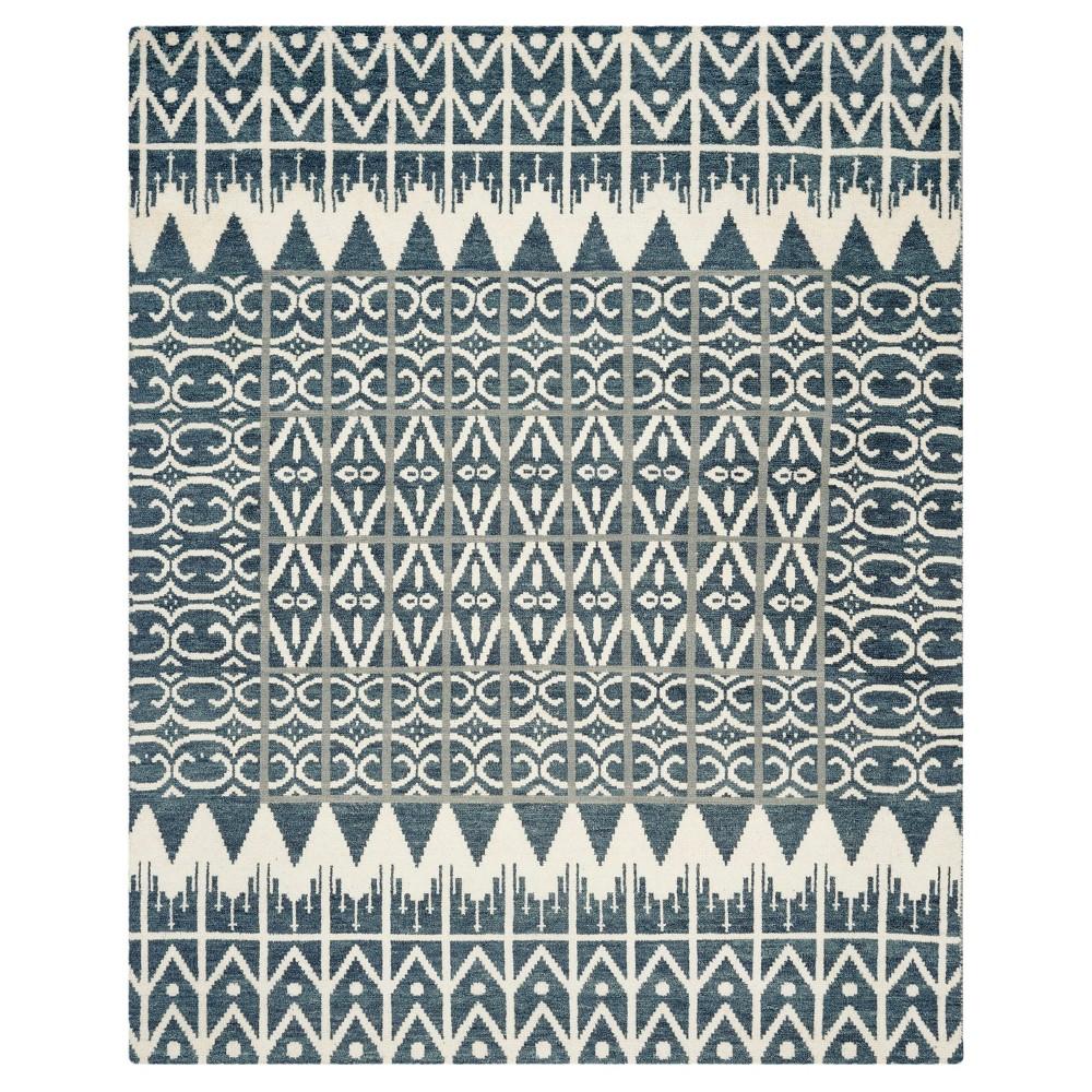 Charcoal Grey Abstract Loomed Area Rug 8x10 Safavieh