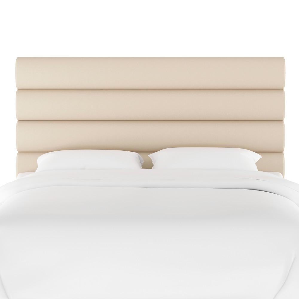 Channel Headboard Twin Velvet Ivory Opalhouse 8482