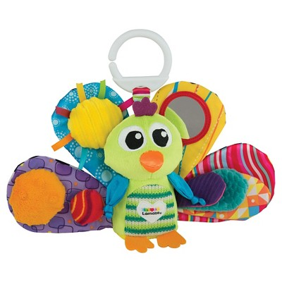 Lamaze Clip & Go Jacques the Peacock Sensory Development Baby Toy