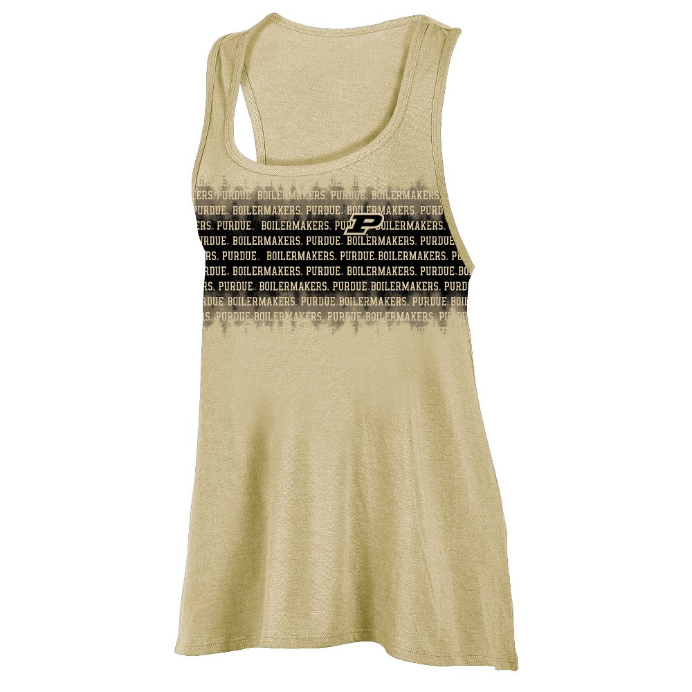 Purdue Boilermakers Women's Collegiate Victory Bi-Blend Alt Racerback Tank Top M, Multicolored
