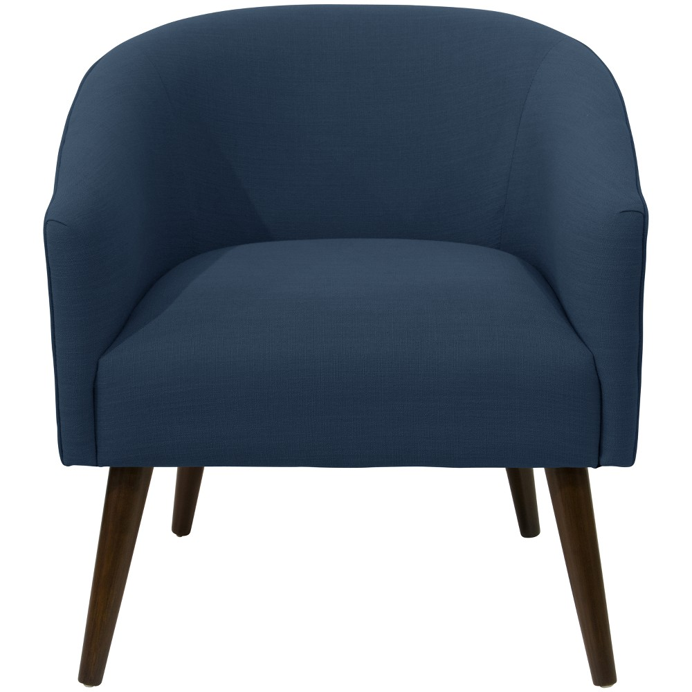 Natalee Chair Navy Linen with Espresso Legs - Cloth & Co.