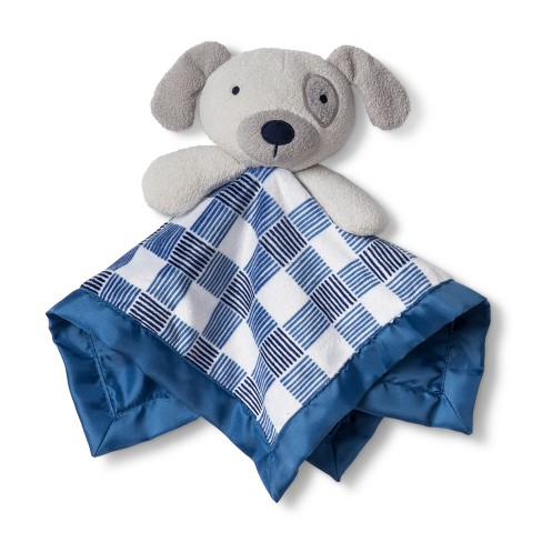 Security Blanket Dog Gingham - Cloud Island™ Gray - image 1 of 1