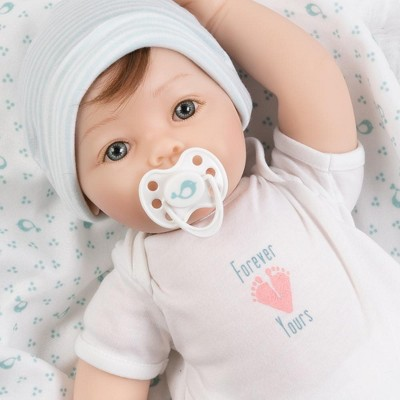 Paradise Galleries Realistic Newborn Doll - Forever Yours Believe, 7-Piece Reborn Doll Gift Set with Magnetic Pacifier