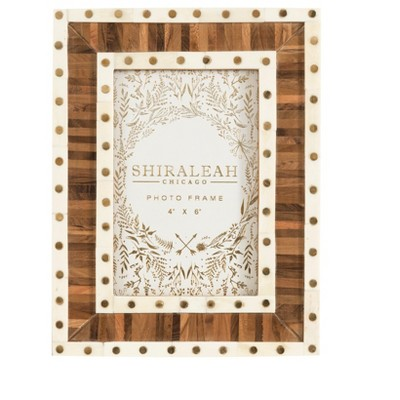 Mansour Two-Tone 4X6 Picture Frame  - Brown - Shiraleah