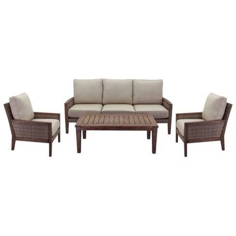 Buena Vista 4pc Sofa Seating Set - Taupe Courtyard Casual - image 1 of 4