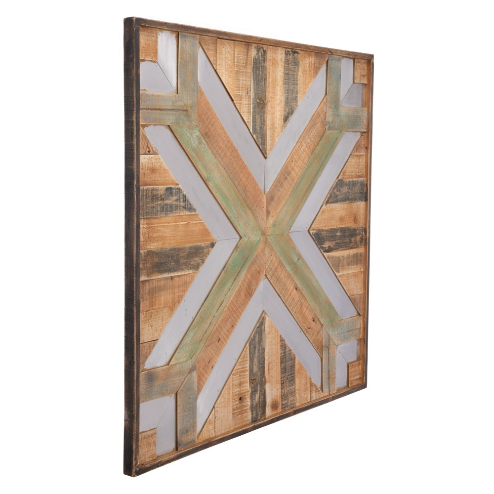 ZM Home 35 Modern Vintage Square Wall Panel Brown