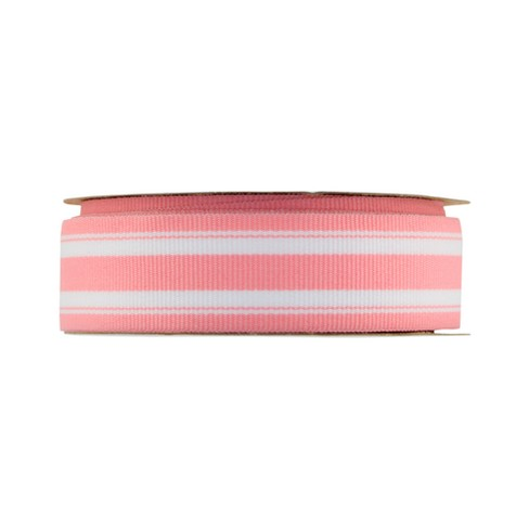 "Offray Monochromatic Stripe Ribbon - 7/8"" x 9ft - Pink - image 1 of 2"
