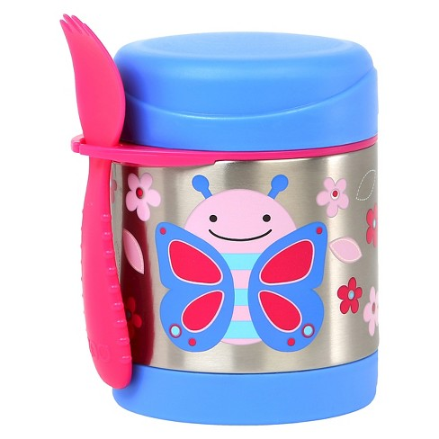 Skip Hop Zoo Little Kids & Toddler Insulated Stainless Food Jar & Utensil - Butterfly - image 1 of 2