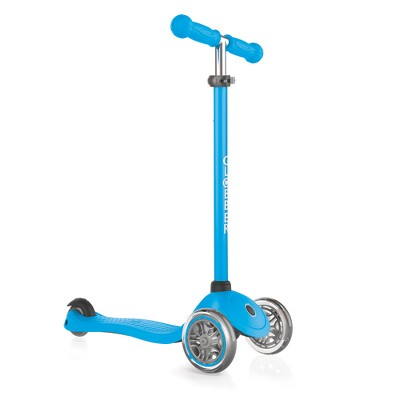 Globber Primo Sky Blue 3-Wheel Kids Kick Scooter with Adjustable Height and Comfortable Grips for Boys and Girls