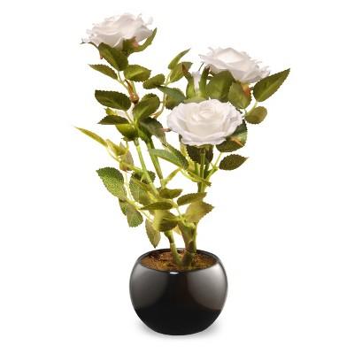"9.5"" White Rose Flower - National Tree Company"