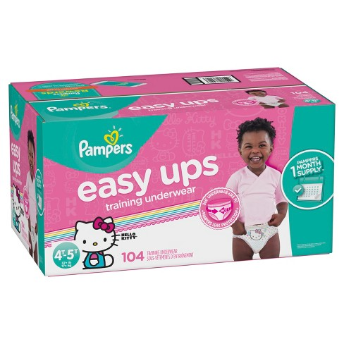 06feccee15a Pampers Easy Ups Girls Training Pants One-Month Supply (Assorted Sizes)