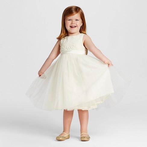 Toddler S Ballerina Flower Dress Tevolio Ivory