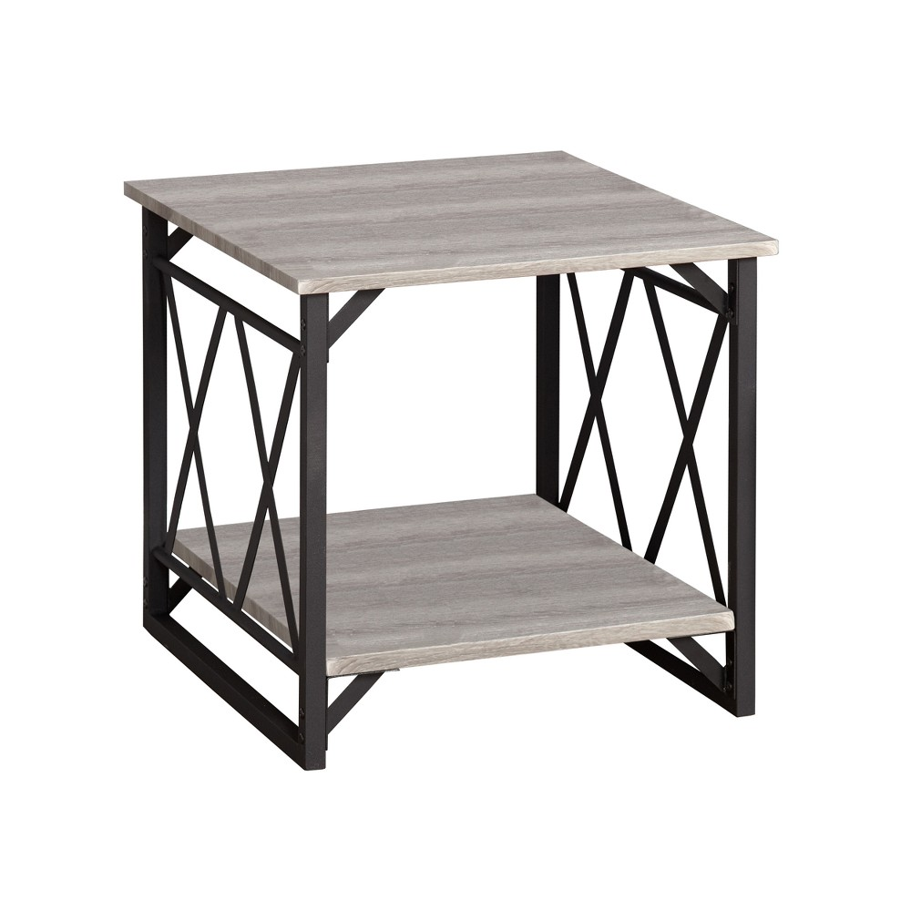 Seneca XX End Table Black/Gray - Buylateral was $119.99 now $59.99 (50.0% off)