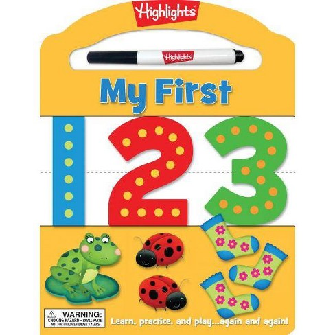 My First 123 - (Highlights(tm) My First Write-On Wipe-Off Board Books) (Board_book) - image 1 of 1
