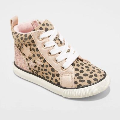 Toddler Girls' Zinnia Zipper Apparel Sneakers - Cat & Jack™ Brown
