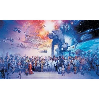 6'x10.5' Star Wars Saga Chair Rail Prepasted Mural Ultra Strippable - RoomMates
