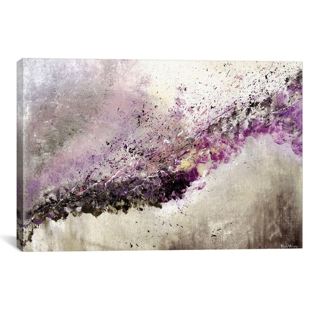 "Image of ""18""""x26"""" Hush by Vinn Wong Unframed Wall Canvas Print Purple - iCanvas"""