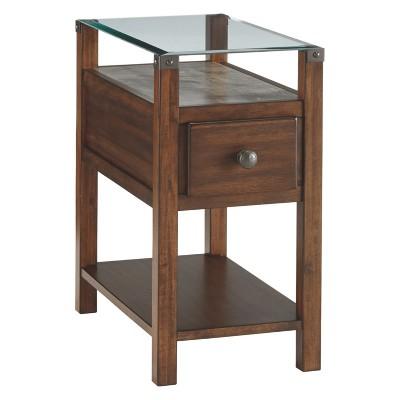 Diamenton Chair Side End Table Dark Brown - Signature Design by Ashley