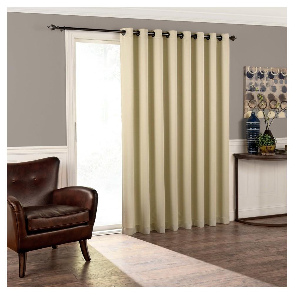 Tricia Room Darkening Patio Door Panel Stone (Grey) (84
