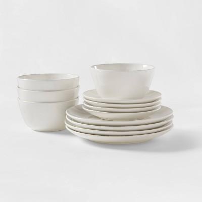 12pc Stoneware Avesta Dinnerware Set White - Project 62™