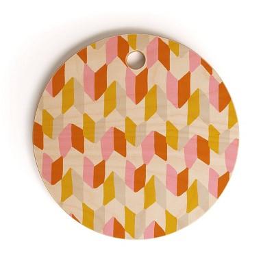 """13"""" Wood Sunshine Canteen Delilah Chevron Cutting Board - society6"""