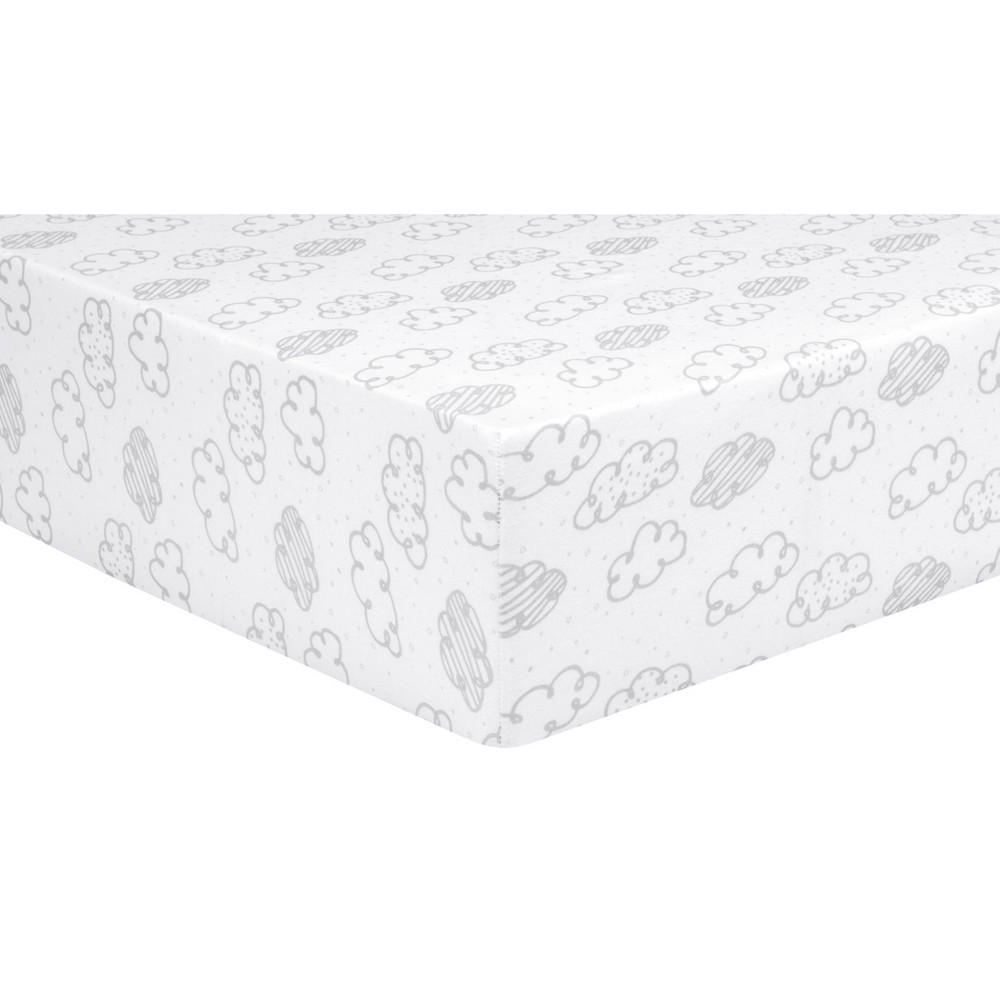 Trend Lab Fitted Crib Sheet Clouds
