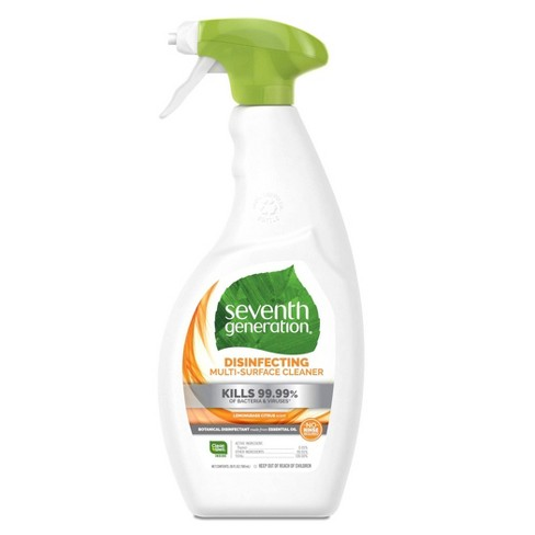 Seventh Generation Lemongrass Citrus Disinfecting Multi-Surface Cleaner - 26oz - image 1 of 4