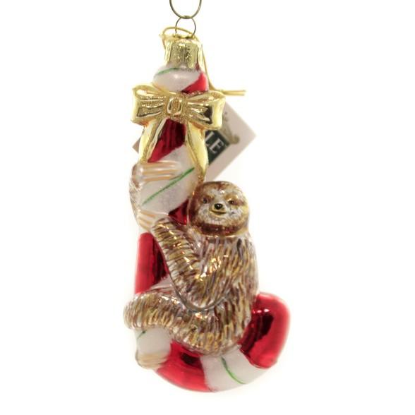 Christmas Sloth.Noble Gems 5 25 Sloth On Candy Cane Ornament Animal Christmas