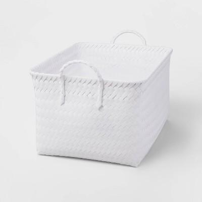 Large Woven Rectangular Storage Basket White - Room Essentials™