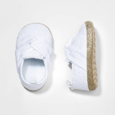 Baby Girls' Eyelet Shoes - Cat & Jack™ White 3-6M