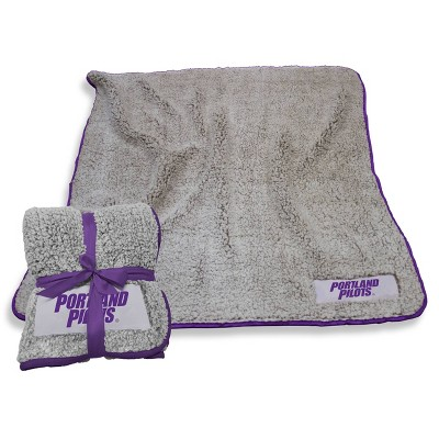 NCAA Portland Pilots Purple Frosty Fleece Throw Blanket