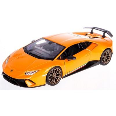 Lamborghini Huracan Performante Orange Metallic 1/24 Diecast Model Car by Bburago