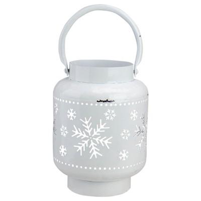"Northlight 7"" White Snowflake Cutout Christmas Candle Lantern"