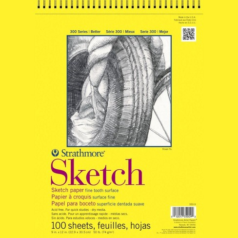 Strathmore 300 Series Sketch Pad, 14 x 17 Inches, 50 lb, 100 Sheets - image 1 of 1