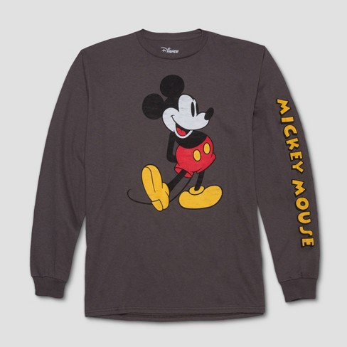 Men's Mickey Mouse & Friends Long Sleeve T-Shirt - Space Gray - image 1 of 2
