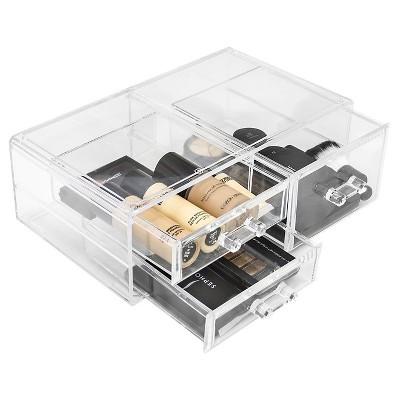 Sorbus Stackable Makeup Storage Set - 3 Drawers