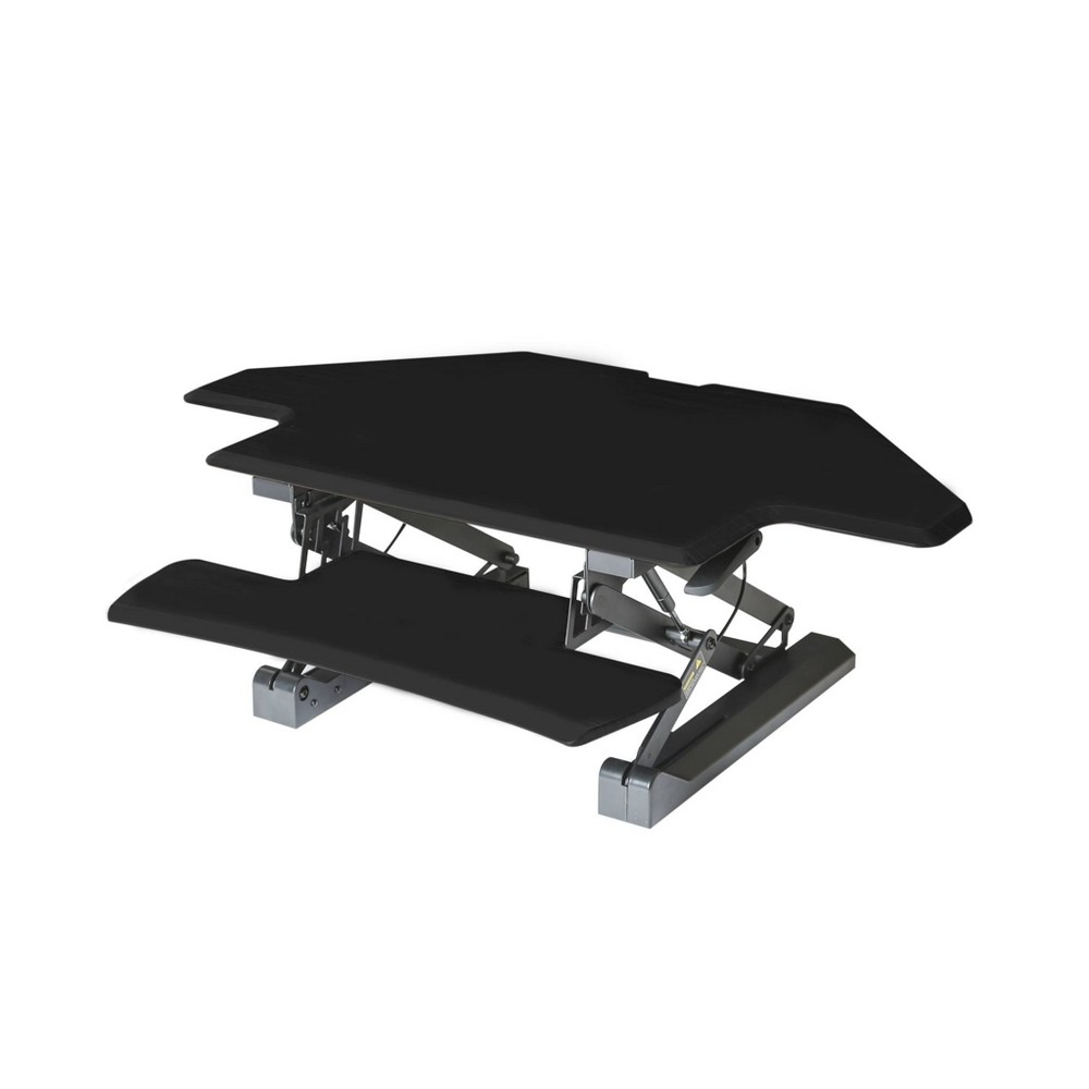 Image of Airlift Corner Height Adjustable Desk Converter Black - Seville Classics