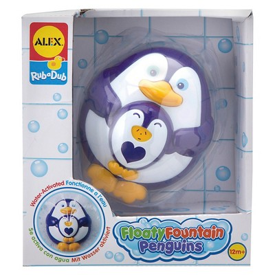 ALEX Toys Rub a Dub Floaty Fountain Penguins