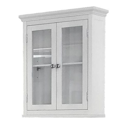 Madison Avenue Wall Cabinet 2 Doors White - Elegant Home Fashions - image 1 of 1