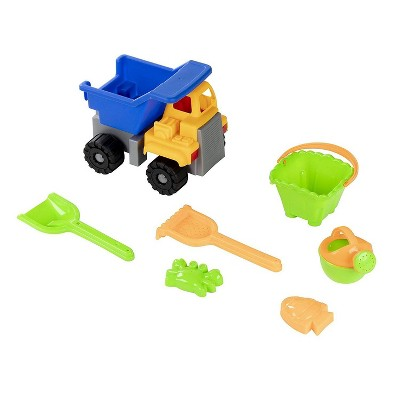 7-Pack Kids Beach Toys Sand Toys Sandbox Play Set with Bucket, Watering Can