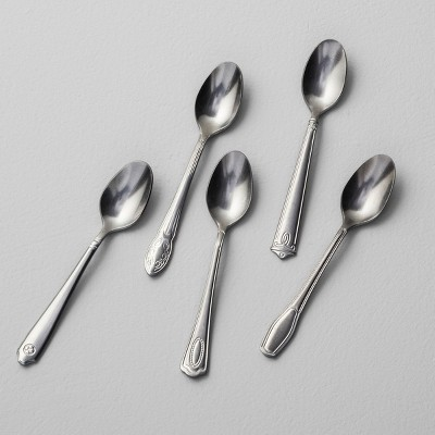 5pk Appetizer Spoon Antique Finish Stainless Steel - Hearth & Hand™ with Magnolia