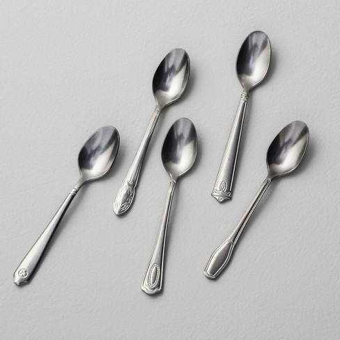 5pk Appetizer Spoon Antique Finish Stainless Steel - Hearth & Hand™ with Magnolia - image 1 of 2