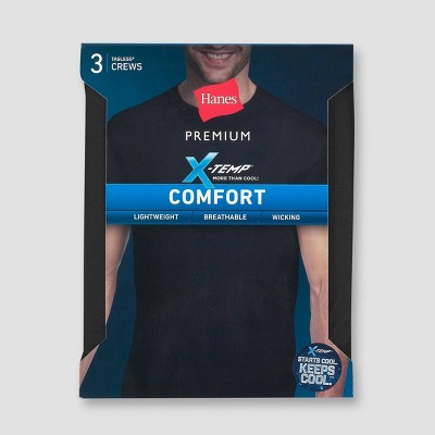 Hanes Premium Men's 3pk Xtemp Crew Neck T-Shirt Undershirt