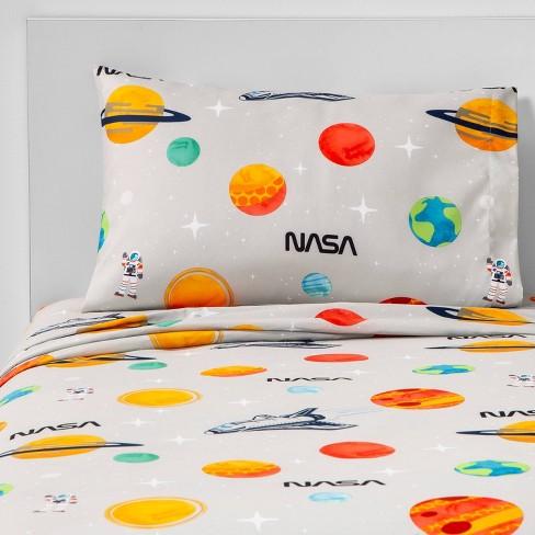 Full Space Ship Rocket Astronaut Kids Sheet Set Twin Twin XL