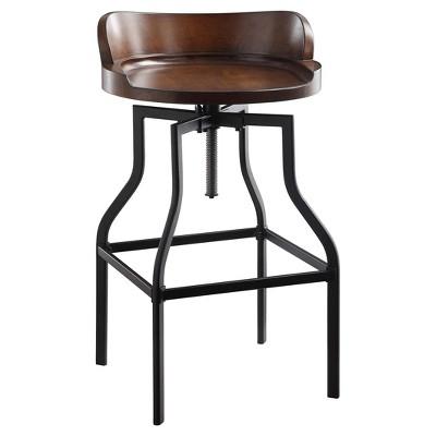 Freya Adjustable Stool - Chestnut/Black - Carolina Chair and Table