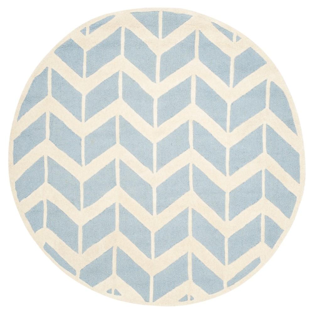 Keene Area Rug - Blue/Ivory (6'x6' Round) - Safavieh