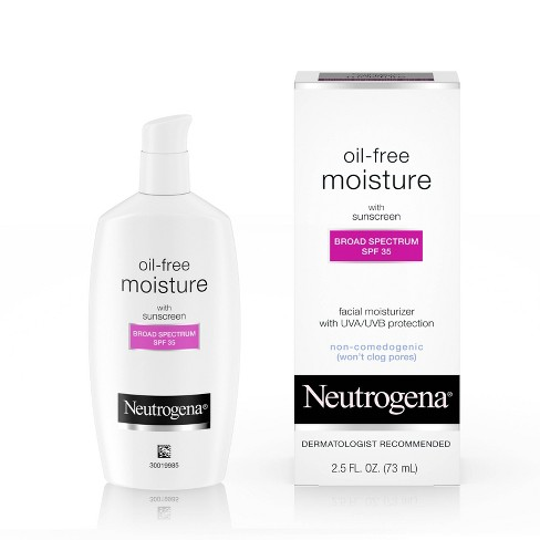 Neutrogena Oil Free Facial Moisturizer Sunscreen - SPF 35 - 2.5 fl oz - image 1 of 4