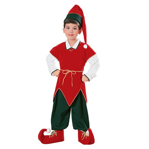 Kids' Velvet Elf Costume - image 1 of 1